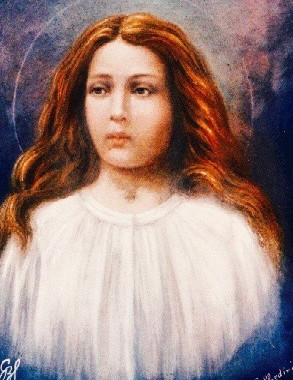 a portrait of the likeness of Saint Maria Goretti