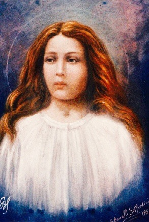 a portrait of the likened of Saint Maria Goretti